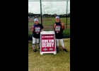 ELLEY SHOULTES (right) and MaKenzie Benjamin of the Saginaw Bay Riverdawgs 10U softball team, headed to Orlando over New Years to take part in the Softball Youth All American Games competition. In the Home Run Derby, Shoultes hit 6 dingers to place third.           --Courtesy Photo