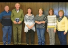 Fraser Twp Board members (L-R) Mark Galus, George Augustyniak, Pat Powers, Renee Rugenstein, Shelly Hadd and guest Theresa Andrejewski, celebrate George Augustyniak's 40 years of service to the towhship.                            --Courtesy Photo