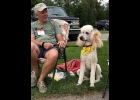 Mike Stoner and Riley, his three year old Standard Poodle, greeted everyone who came to the Paws in the Park event last Sunday, both canine and human. Riley can hardly wait for the new park to open so he can see all his new friends again.                   --Courtesy Photo