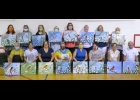 participants in the Appreciating Nature Through Art Workshop share their final product. From left: front row-Dennis Curtis, Hope Grevel, Dawn Hoder, Misty Coss, (Studio 23 staff), Tina Bauer, Jessica Kustra, Lonna Hummel, Mike Stoner; back row- Michelle Bates, Kris Sullivan, Ellen Charlebois, Cindy Goldberg, Jean Saxon, Robin Wiess, Julie Mader, Ann Gies.