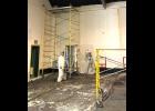 Community Center Prep work is underway for painting the gym/auditorium.                                                                                                             --Courtesy Photo