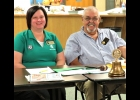 Melissa LeFever, 4-H Speaker and club president Tom Boetefuer  are seen in this photo, taken in the Arenac Community Center, during the Oct. 17th Rotary meeting highlighting 4-H program opportunities.  --Courtesy Photo