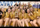 THE PINCONNING VARSITY DANCE TEAM showing off their first place trophy from the Spirit Shine Celebration Cheer and Dance Competition last Saturday, Feb. 29th.  --Courtesy Photo