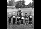 AYSO U-6 Falcons: (not in order) Xavier Baniel, Brody Haga, Emma Johnson, Freya Knight, Jaxson Laidlaw, Weston Woodbury; Coach: Lily Johnroe.                                                     --Journal Photo