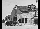The Jankowiak Bldg, now the Pinconning Community Center, as it appeared about 1940 next to Wilson's Cheese Shop.                                           --Courtesy Photo