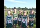 THE MIDDLE SCHOOL GIRLS CROSS-COUNTRY TEAM at Frankenmuth, (L-R) Lauren LeVasseur, Kinsie Jacques, Sydney Kanthe, Ariel Holstine and Alex Kanthe.                               --Courtesy Photo