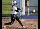 MADISON SHOULTES makes good contact with the ball against John Glenn on Thursday.							--Journal Photo