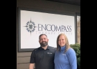 ROB AND ASHLEY BLAKE stand in front of their new Encompass Therapy Center building in Bay City, shortly before it's Grand Opening on July 31st, 2020. 					                                                             --Courtesy Photo
