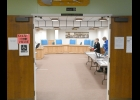 PINCONNING CITY COUNCIL CHAMBERS were open on Tuesday for Michigan Presidential Primary Election voting.                                          --Journal Photo
