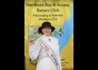 Cindy LeVasseur, speaker at the Aug. 29th Rotary meeting on the 100th Anniversary of the Women's Suffrage Movement in 2020. She is wearing a 1916 era costume as may have been worn by women then.                   				                                    --Courtesy Photo