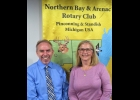 Duane Van Drese and Mary LaPan newest members of the Rotary Club.   --Courtesy Photo