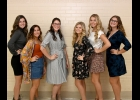 Queen Candidates: Madison Bellottie, Alayna Bernreuter, Aubree Bishop, Katie DaFoe, Kaylei Groulx, Sophia Shaker.                                            --Journal Photo