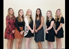 2021 PHS HOMECOMING QUEEN CANDIDATES: (l-r) Hailey Cianek, Ava DeWyse, Brielle Herner, Tori Shark, Lakyn Shoemaker, McKenzie Sinicki.                                                          --Journal Photo