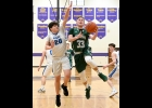 Beal City thought they'd faced the big challenge, Beaverton, in last Monday night's MHSAA District 71 Basketball action, beating the 16-4 Beavers 51-46. Senior Logan Chilman missed the first half of the season with a broken leg, but still managed 1,000 career points. The Aggies went 3-7 before his return, but 10-1 after. And for the second round, they faced the 8-12 Pinconning Spartans. They brought a loud, boisterous crowd on the 15 minute drive to Farwell on Wednesday to face the Spartans, who quieted t