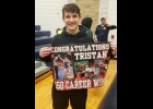 PHS SENIOR TRISTAN DYCEWICZ had a big day on Saturday, recording his 150th win as a Spartan wrestler on his way to a Second Place finish in MHSAA Individual Wrestling District 18-3 action at Shepherd. He and two teammates will head to Boyne City this Saturday for Regional 18-3 competition (see full report on page 9).          --Courtesy Photo