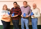 "NBCF TRIVIA NIGHT WINNERS ""DR. MARIO"": (l-r) Robin Wiess, Dustin Wiess, Dan LaPan, and Dennis Curtis.  --Journal Photo"