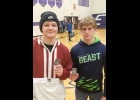 JACOB BROOKS AND ARTHUR DENNISON show off their Jack Pine Conference Second Place medals that were earned at the Conference Championships on Saturday.     --Courtesy Photo